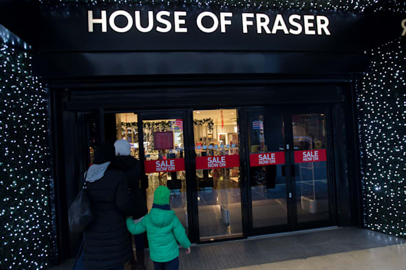 File photo dated 2/1/2014 of the House of Fraser store on Oxford Street in Central London. The department store chain was today being linked to a �450 million takeover by a conglomerate little known outside China. PRESS ASSOCIATION Photo. Issue date: Sunday March 30, 2014. Nanjing-based Sanpower, which has more than 100 businesses in mainland China including shopping centres, is in advanced talks over a surprise swoop for the UK high street chain, the Sunday Times said. See PA story CITY Fraser. Photo credit should read: Steve Parsons/PA Wire