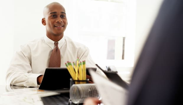 Businessman in meeting