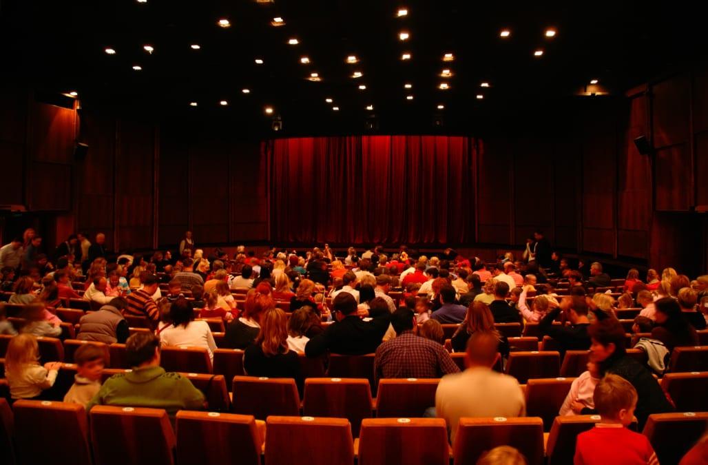 At cinema before seance