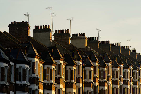 File photo dated 11/12/13 of a row of terraced houses in south London as banks have rapidly become more dominant in the ultra-low-deposit mortgage market since the Government's flagship Help to Buy scheme was fired into action, according to a financial website. PRESS ASSOCIATION Photo. Issue date: Wednesday February 19, 2014. Traditionally, building societies have held a bigger share of the number of deals on offer for people with a 5% deposit, largely due to banks being more reluctant to offer such products which are seen as being more