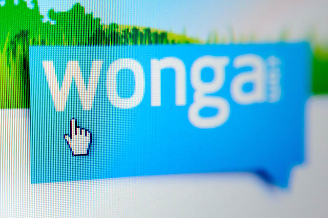 File photo dated 16/12/12 of the Wonga logo as a television advert for the payday lender has been banned for breaching regulations by failing to disclose the relevant cost of borrowing. PRESS ASSOCIATION Photo. Issue date: Wednesday October 8, 2014. The television ad showed a man anxiously jotting down figures on a napkin before looking at his phone calculator and seeing the amount of �153.79. The Citizens Advice Bureau complained that the ad breached regulations by omitting the representative annual percentage rate (RAPR), as it understood that the claim