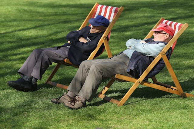 Londoners Enjoy The Warm Spring Weather