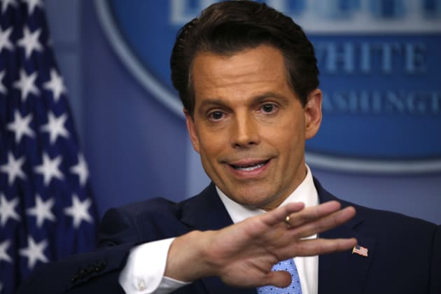 New White House Communications Director Anthony Scaramucci addresses journalists at the White House on