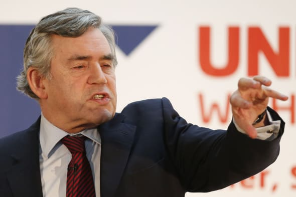 Former Prime Minister Gordon Brown proposes six