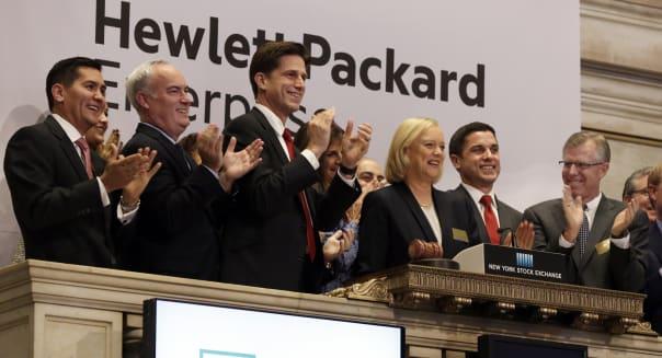 Financial Markets Wall Street Hewlett Packard Enterprise