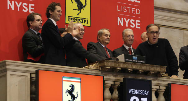 Financial Markets Wall Street Ferrari's Debut