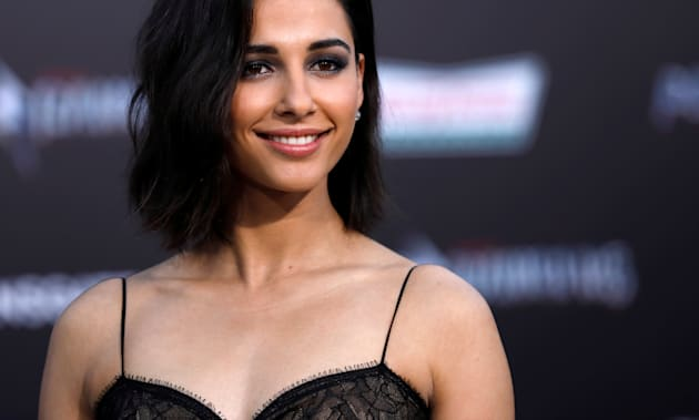 "Naomi Scott at the premiere of ""Power Rangers"" in Los Angeles, California U.S., March 22,"