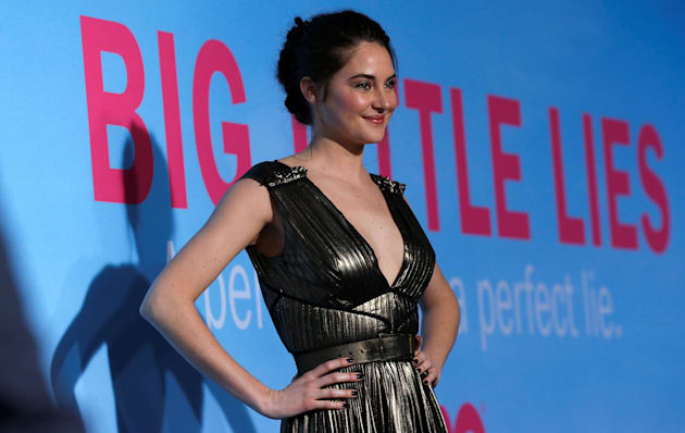 """Shailene Woodley poses at the premiere of the HBO television series """"Big Little Lies"""" in Los"""