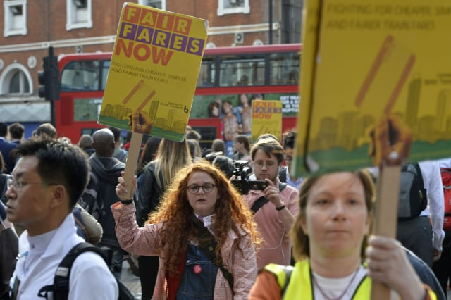 Southern Rail network protest
