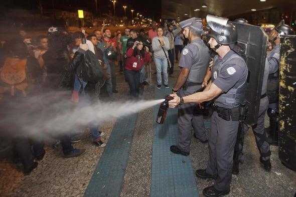 Brazil WCup Subway Strike