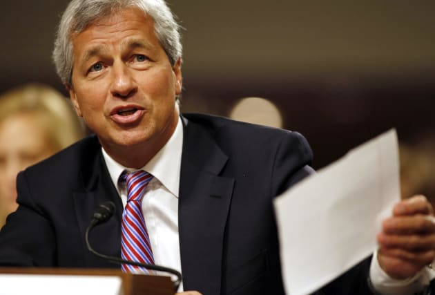 JP Morgan Chase and Company CEO Jamie Dimon answers a question at the U.S. Senate Banking, Housing and...