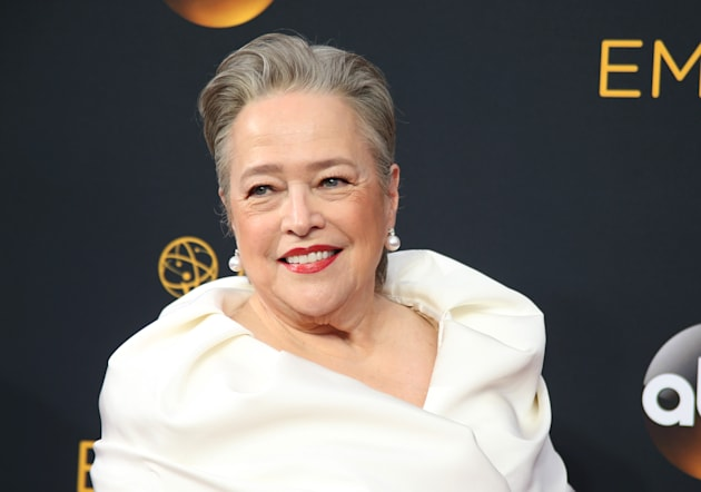 "Actress Kathy Bates from the FX series ""American Horror Story"" arrives at the 68th Primetime..."