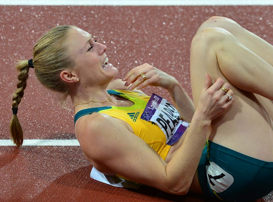 Tears of joy for Sally Pearson in London which sadly won't be repeated in Rio. But at least we got to...