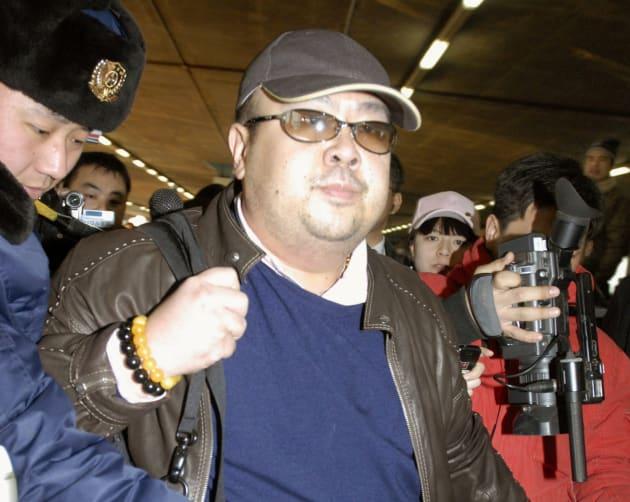 Kim Jong Nam arriving at Beijing airport in Beijing, China, in
