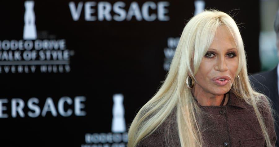 Fashion Designer Donatella Versace deliv...
