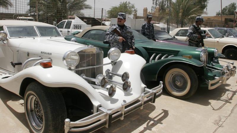 IRAQ SADDAMS SON CARS