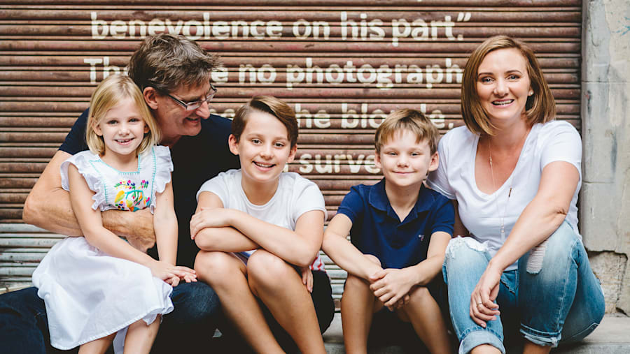 Sam Fletcher, with her husband Lachlan and their children, has launched a Kickstarter campaign to fund...