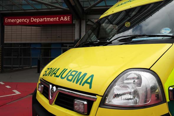 Patients wait in ambulances