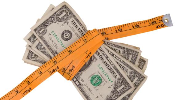 Money tape measure