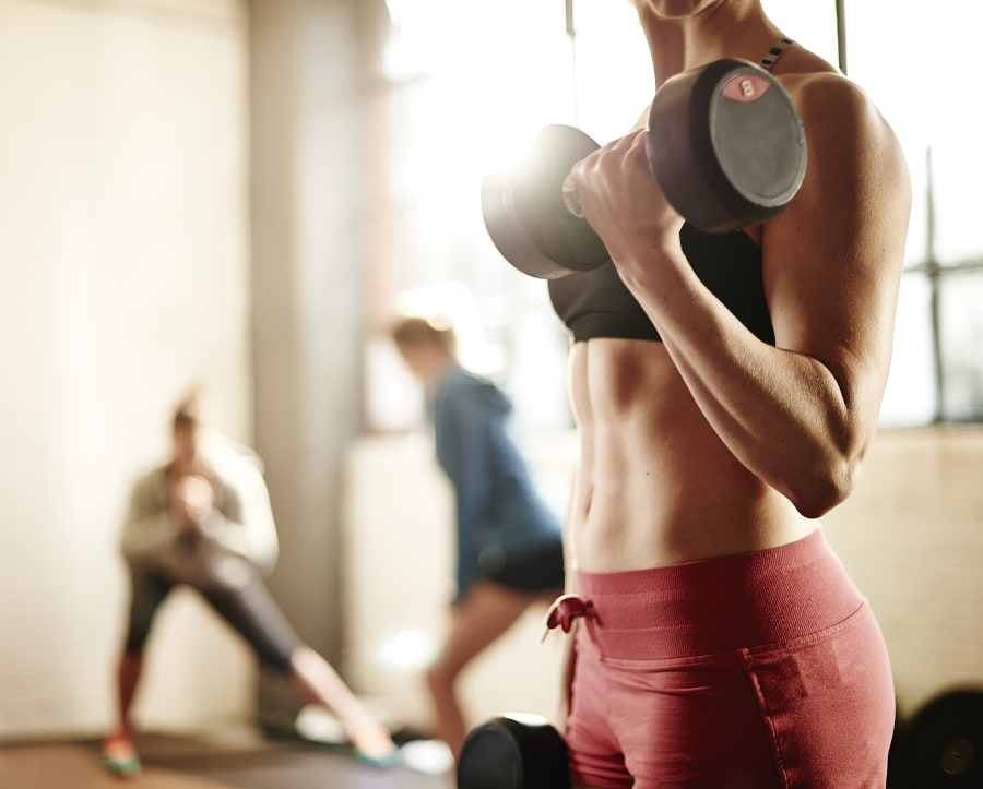 Strength training helps you feel stronger and increases muscle mass (which in turn burns more overall