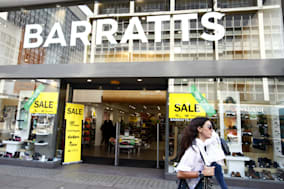 Barratts shoes in administration