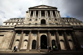 File photo dated 08/08/12 of a general view of the Bank of England as the institution is expected hold interest rates at record lows once more, amid speculation it will have to change the threshold for considering a hike in the cost of borrowing within months. PRESS ASSOCIATION Photo. Issue date: Thursday January 9, 2014. Economists predict that the strength of the economic recovery will see Bank governor Mark Carney lower the unemployment target under his forward guidance policy as soon as February to ensure rates remain at rock bottom. Rates have been held at 0.5% for nearly five years now and the Bank pledged last year not to consider a rise until the unemployment rate falls to 7%, at the time predicting this would not be reached until 2016. But unemployment has been falling sharply - down to a lower-than-expected 7.4% in October - as the recovery gains traction, meaning the threshold could be hit far sooner. See PA story ECONOMY Rates. Photo credit should read: Yui Mok/PA Wire