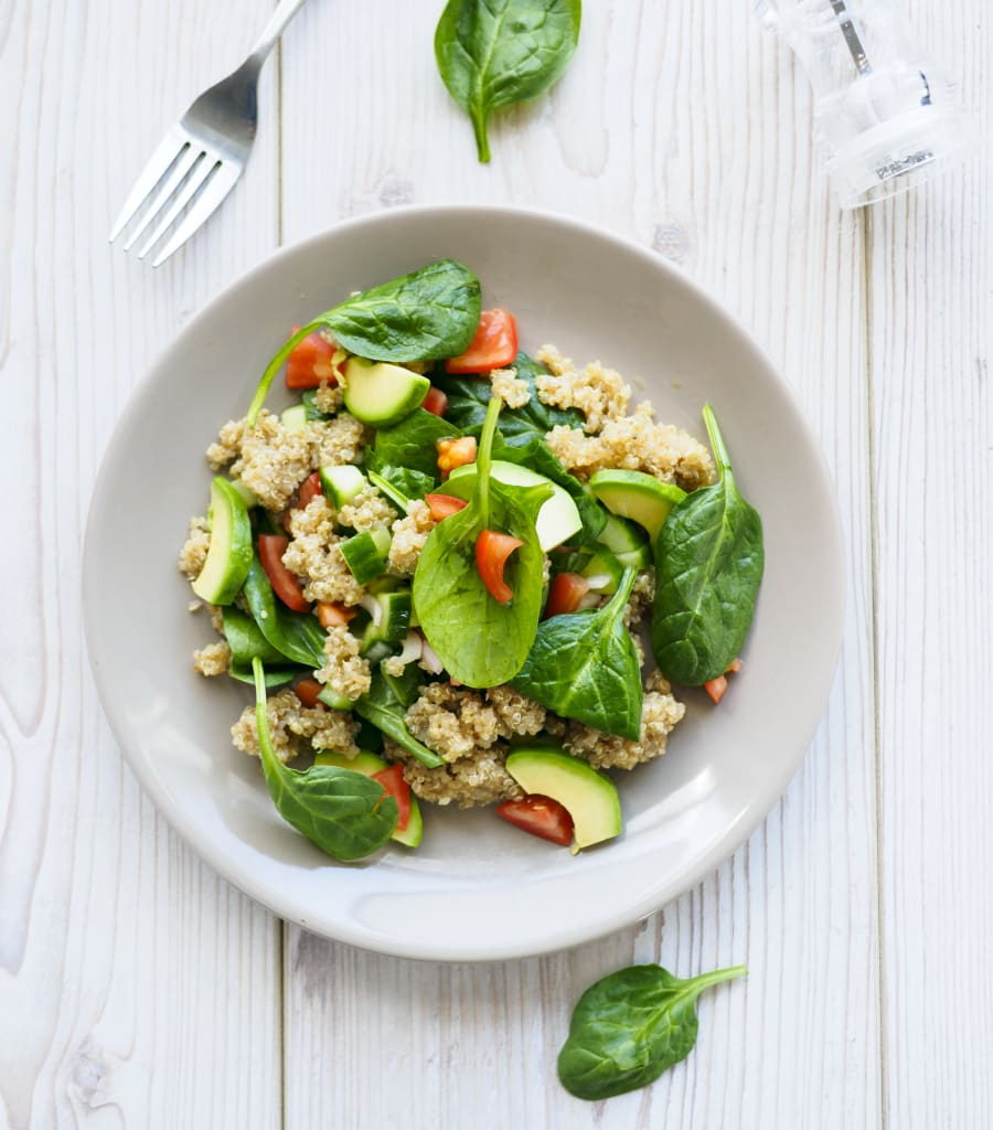 If you're eating at home, include different textures using nuts, seeds, avocado and