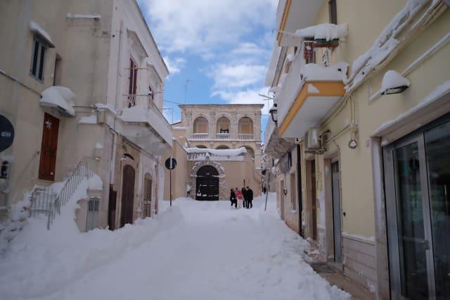 ITALY-WEATHER-SNOW-PUGLIA