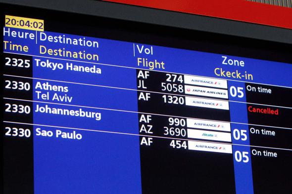 France Flights Canceled Israel