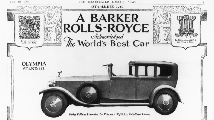 Illustrated Advertisement Of Rolls Royce