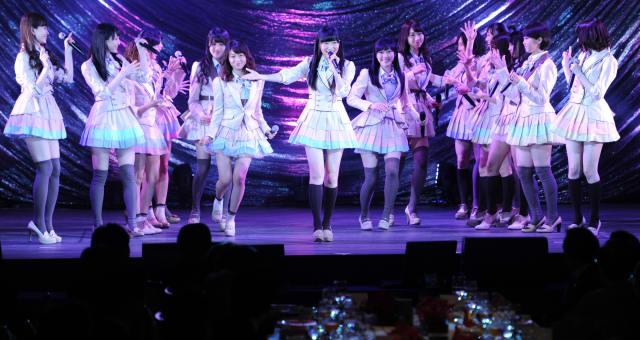 Japanese women's pop group AKB48