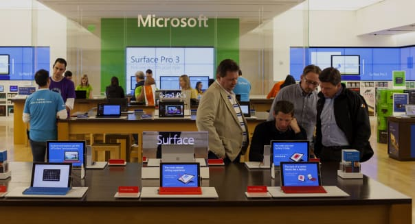 Inside A Microsoft Corp. Store Ahead Of Earnings Figures