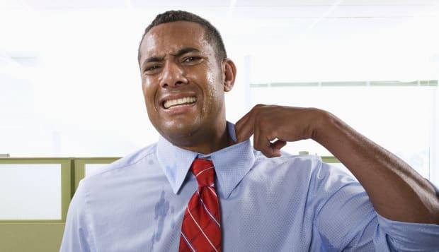 Man Sweating