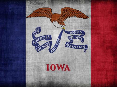 iowa flag pattern  retro...