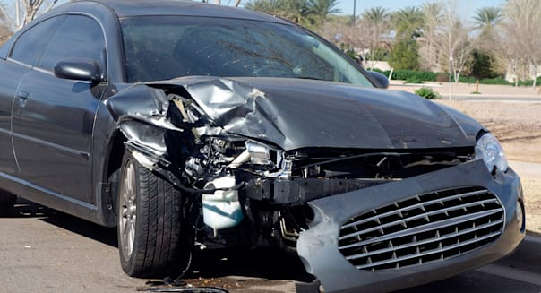 Car accident, insurance concept