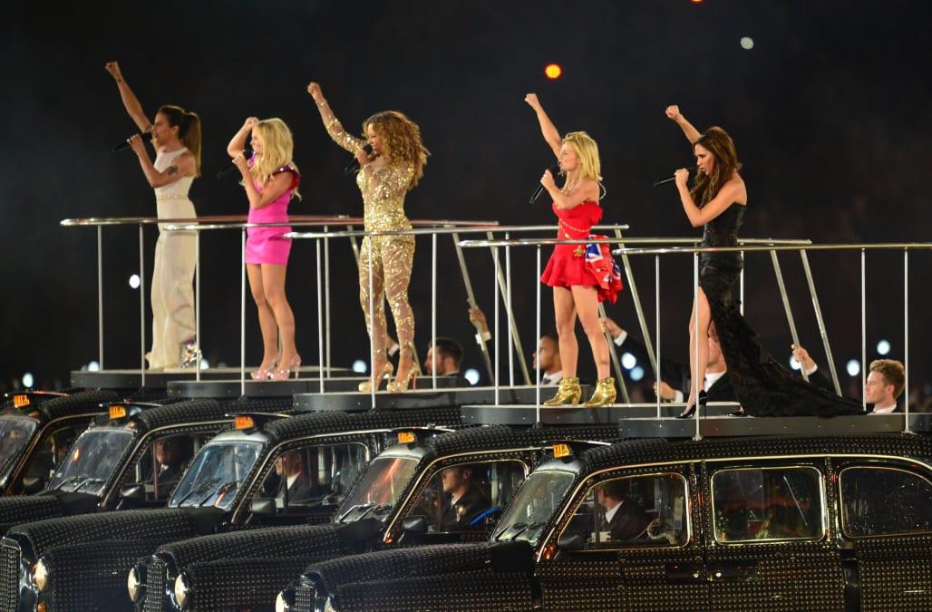 (From L) Spice Girls' Melanie Chisholm,