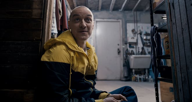James McAvoy as Hedwig in M. Night Shyamalan's SPLIT