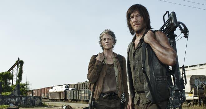 Melissa McBride as Carol Peletier and Norman Reedus as Daryl Dixon - The Walking Dead _ Season 5, Gallery - Photo Credit: Frank Ockenfels 3/AMC