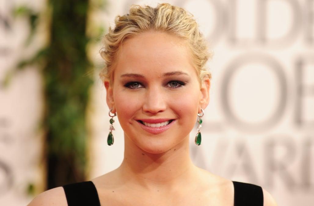 Actress Jennifer Lawrence arrives on the red carpet