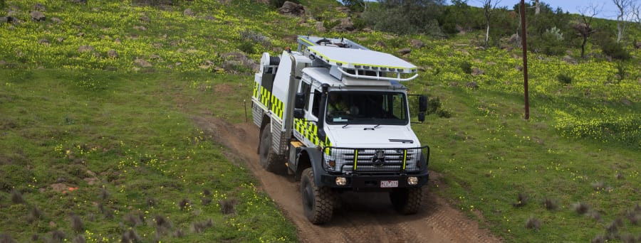 Perfect for the Australian environment, this firetruck is built to withstand the harshest of