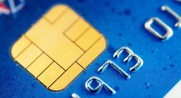 Smart card super macro , credit card chip