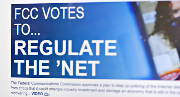 Online headline FCC Votes to Regulate the Net
