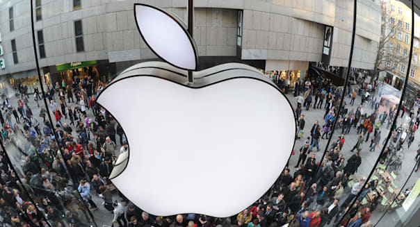 A giant Apple logo can be seen as custom