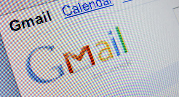 Screenshot from homepage of Google Mail of Gmail website
