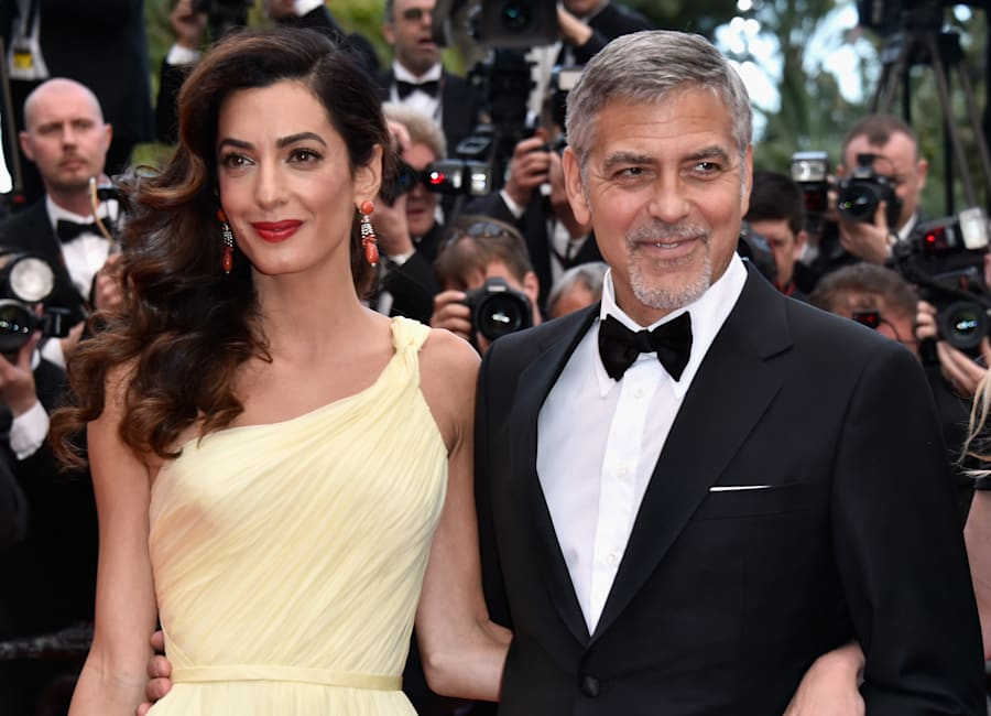 Amal Clooney and actor George Clooney, pictured here at the 69th annual Cannes Film Festival in May,...