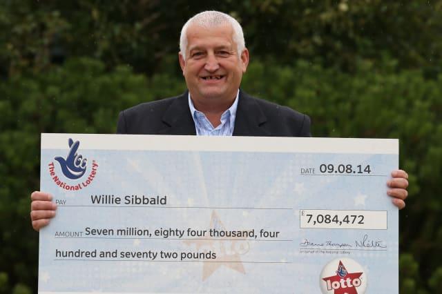 Lottery winner Willie Sibbald