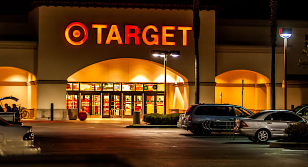 A Target Store at Night