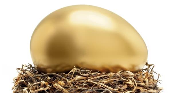 large golden egg nest