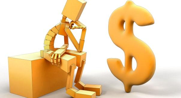 Man And dollar