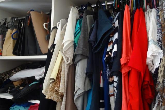 Clothing in wardrobe
